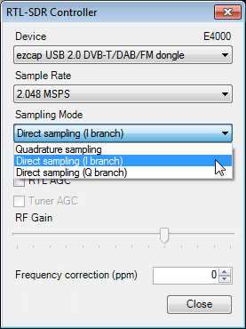 SDR Sharp Direct Sampling
